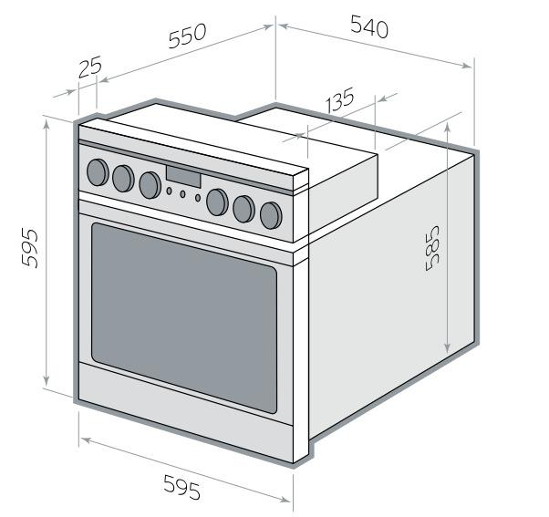 Как встроить электрический духовой шкаф своими руками